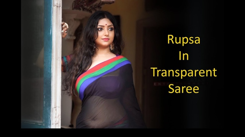 Rupsa In Black Transparent Saree Red Heart Entertainment Full HD 2018