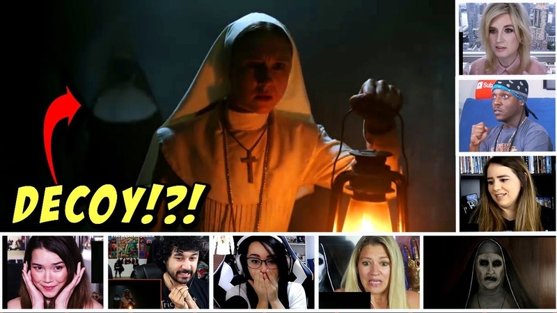 Reactors Reactions To The Cunningly Ingenious JUMP-SCARE From The Nun