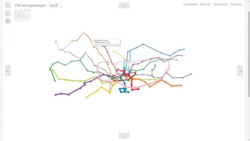 Трехмерная карта московского метро