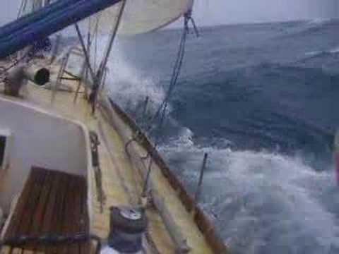 Яхта Апостол Андрей: бейдевинд в Южном океане