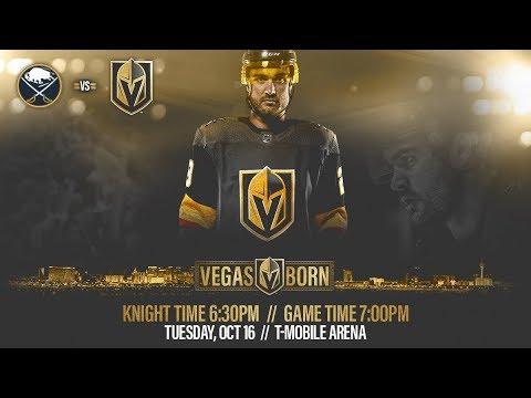 NHL 19 PS4. REGULAR SEASON 2018-2019: Buffalo SABRES VS Vegas GOLDEN KNIGHTS. 10.16.2018. (NBCSN) !