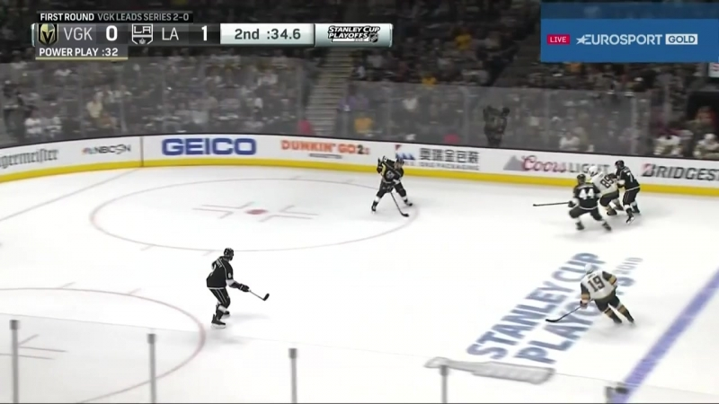 Vegas Golden Knights vs Los Angeles Kings 15 04 2018 Round 1 Game 3 NHL Stanley Cup Playoffs 2018 Eurosport Gold RU