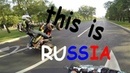 This Is Russia Crazy ATV riding in MOSCOW Motard Stunt Yamaha Banshee YFZ450