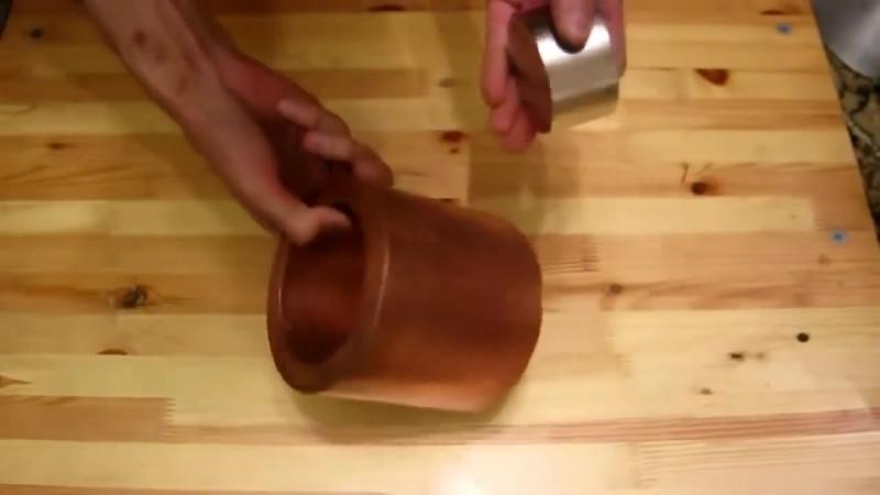Неодимовый магнит в медной трубе