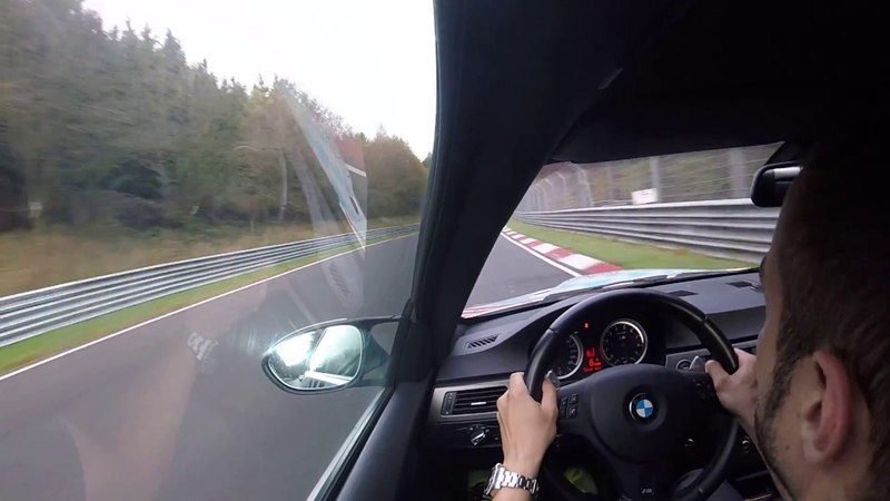 BMW M3 E92 - BTG 8:20 NURBURGRING WITH POWERSLIDE AND TRAFIC