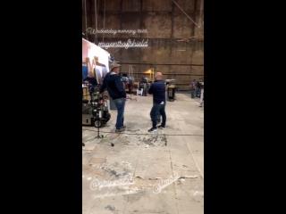 Съёмочная площадка 6 сезона сериала Агенты Щ.И.Т..