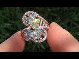 ROSE GOLD GIA 3.41 ct VS1 Fancy Color Diamond 14k Gold Vintage Estate Cocktail Ring
