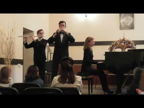 И. И. Кванц. Соната для флейты, гобоя и фортепиано. Ч. 1 Анданте