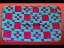 Weaving Tutorial Meshwork Ribbon Cojin Decorado Tutorial 4 3D Cushion Mat Dress