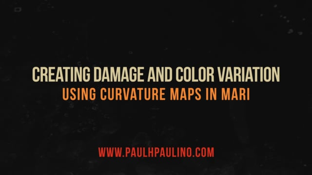 Quick Tip Creating damage and color variation using curvature maps in MARI