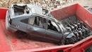 Extreme Dangerous Car Crusher Machine in Action, Crush Everything Car Shredder Modern Technology