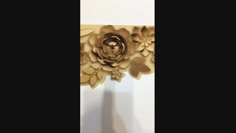 3D ламбрекен Бумажные цветы 1