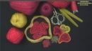 Вязание крючком композиции ЗОЛОТЫЕ СЕРДЦА 3/Роскошь Ирландского Кружева Котельниковой Натальи