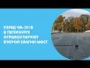 Перед ЧМ-2018 в Петербурге отремонтируют Второй Елагин мост