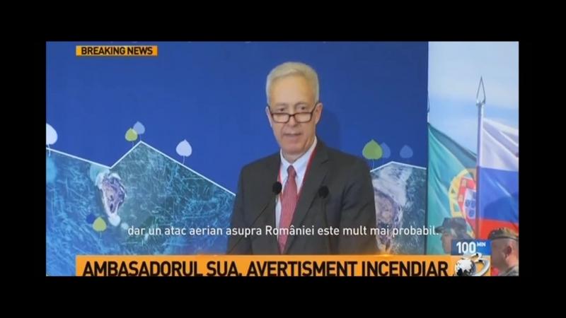Ambasadorul SUA face propaganda de razboi in COLONIA ROMANIA impotriva RUSSIEI