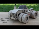 How To Make RC Tractor For Cardboard RC John Deere Tractor 9620R