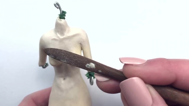 Making the Mermaid ~ Certainly Caroline ~ Polymer Clay Art Doll