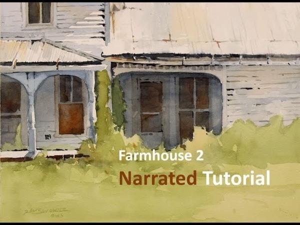 Transparent Watercolor Narrated Tutorial: Farm House 2