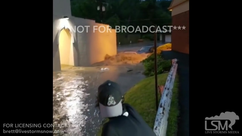 06-20-2018 Bethel Park, PA - Flash flooding sweeps cars away