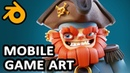 Mobile Game Character Bust - 3D Modeling in blender - Pirate