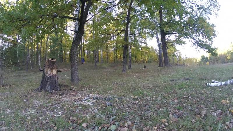Велозаезд - Осенний воронежский лес под ROCK. Рамонь