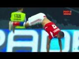 Заболотный празднует гол в матче Россия – Чехия