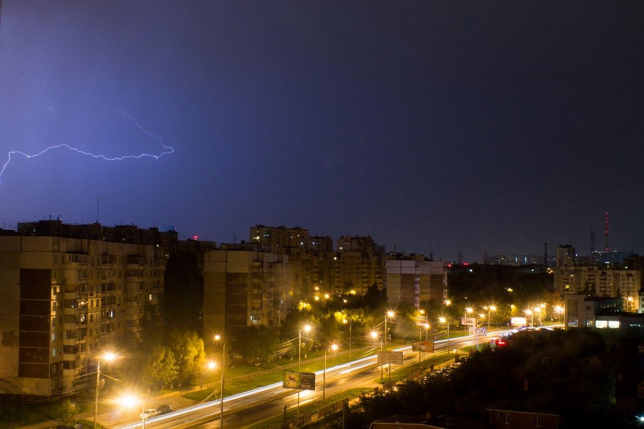 ночные фото гроза молния
