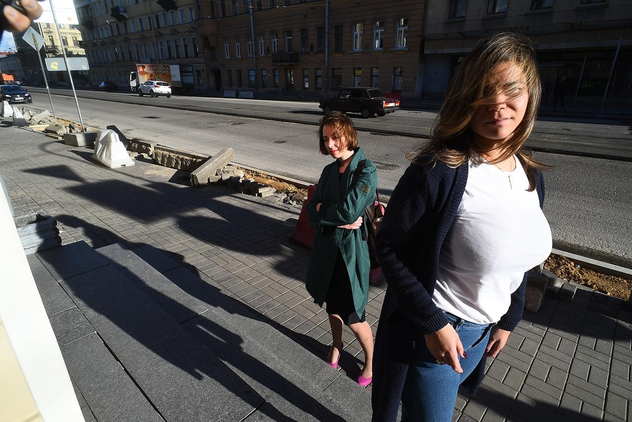 Фотосессия в Санкт Петербурге, стройка дороги, ремонт дороги
