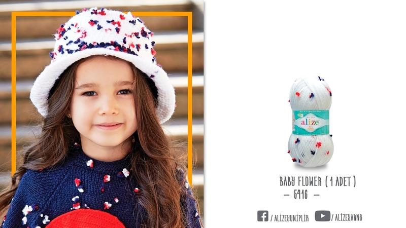Alize Baby Flower ile Çocuk Şapkası Yapımı-Making Children Hat with Alize Baby Flower