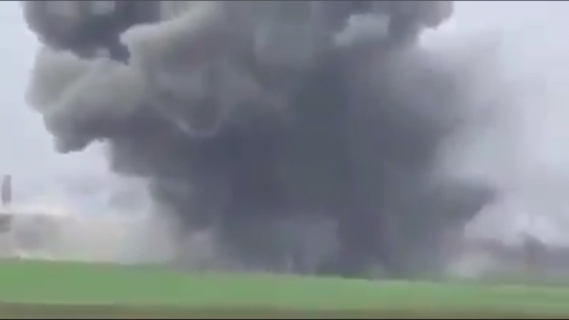 Утренний авиаудар в Таль Аль-Сайяд,пр.Идлиб