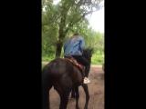 Первый раз на лошади (коне) ?