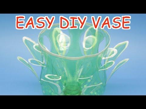 DIY Plastic Bottle Vase for Beginners Plastic Bottle Crafts Ideas