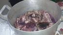 шашлык маринованный в браге из винограда.shish kebab marinated in a brag of grapes.