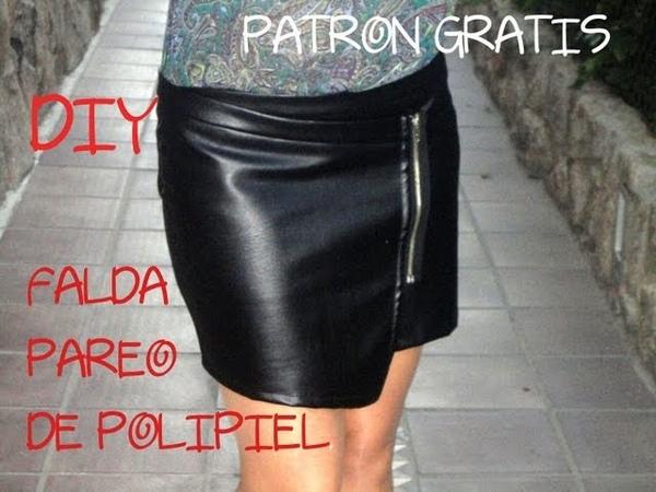 Como hacer una minifalda (pareo). Patrón o molde gratis, hazlo tu misma.