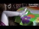 Kristina Fetish - ножки в белых колготках фетиш (Ножки, Фетиш, Фут, Foot, Fetish, Чулки, Legs, Секси)