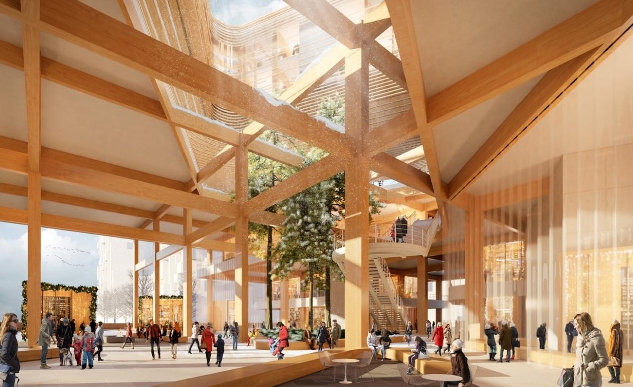 В Канаде строят деревянный город
