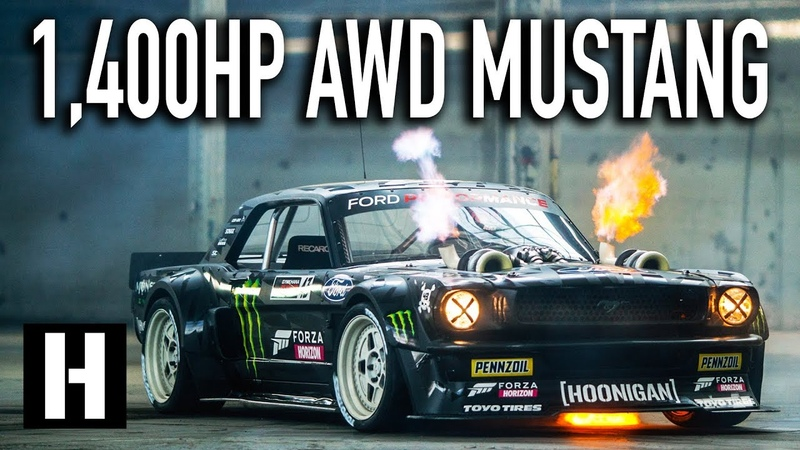 Ken Blocks 1,400hp AWD Ford Mustang Hoonicorn V2 Straight from Gymkhana TEN!
