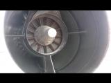 Airbus A321 Jet Engine.Вращающийся реактивный двигатель.