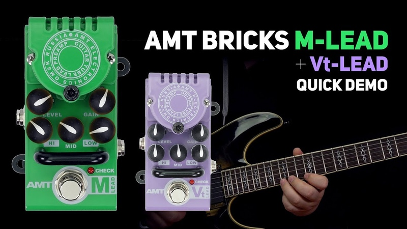AMT Bricks M-Lead Vt-Lead tube preamps DEMO (no talking)
