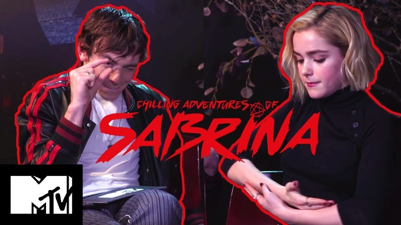The Chilling Adventures Of Sabrina Cast Play Teen TV Show Charades Talk Riverdale | MTV Movies