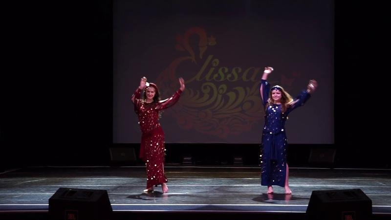 Дуэт ученицы Александра Цыпленкова и тренера Отчетный концерт школы восточного танца Elissa 2019