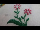 Hand Embroidery Twisted Chain Stitch(Little fish stitch) Flower Design by Amma Arts