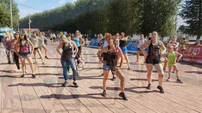 День физкультурника 11.08.2018 (Зумба DanceFit)