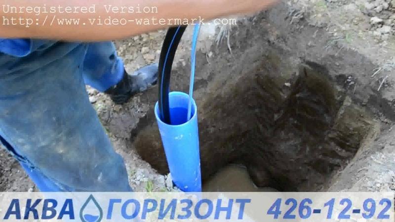 монтаж насоса в скважину 22 метра