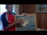 Посещение сельчан на выставке картин в гостях у художника Валерия Краснова