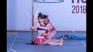 POLE SPORTS RUSSIA 2018   Svetlana Sidorenkova, Elena Evdokimova Art дуэты 2 место