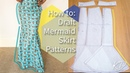HOW TO: DRAFT MERMAID SKIRT PATTERNS | KIM DAVE