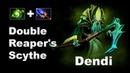 Dendi Double Scythe - Much Money No Buyback Dota 2