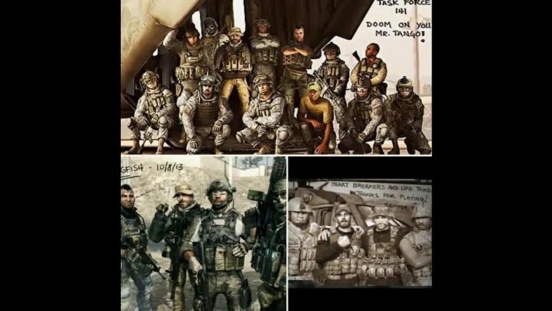Клип на серию игр Call of duty Modern warfare