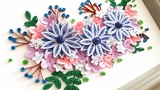 Quilling Flower Decoration Series Quilling Flower Learning Video 14